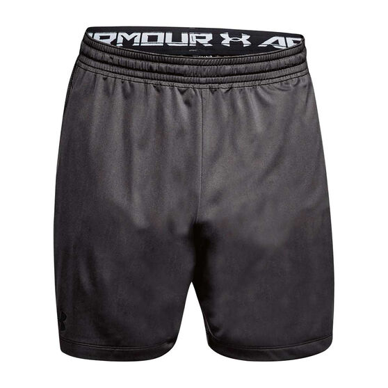 Under Armour Mens MK 1 7in Shorts, Grey / Black, rebel_hi-res