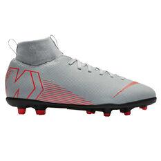 Nike Mercurial Superfly VI Club Junior Football Boots Grey / Black US 1, Grey / Black, rebel_hi-res