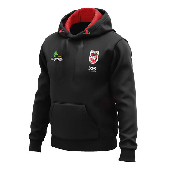 St George Illawarra Dragons 2020 Mens Pullover Hoodie, Black, rebel_hi-res