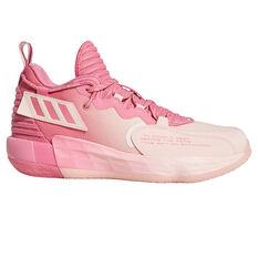 adidas Dame 7 EXTPLY: DAME D.O.L.L.A. Basketball Shoes Rose US 7, Rose, rebel_hi-res