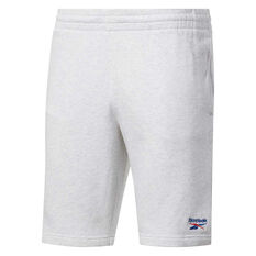 Reebok Classics Mens Vector Shorts White S, White, rebel_hi-res