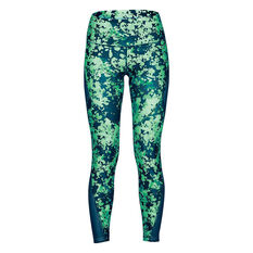 Under Armour Womens HeatGear Armour Print Ankle Crop Tights Green XS, Green, rebel_hi-res