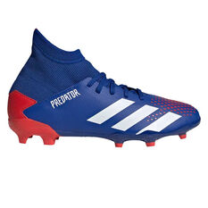 adidas Predator 20.3 Kids Football Boots Blue/White US 11, Blue/White, rebel_hi-res