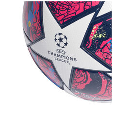 adidas UECL Finale Istanbul League Soccer Ball White / Blue 5, White / Blue, rebel_hi-res