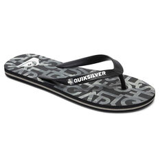 Quiksilver Molokai Random Kids Thongs, Black/Grey, rebel_hi-res
