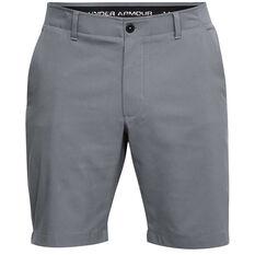 Under Armour Mens Showdown Golf Shorts Grey 30, Grey, rebel_hi-res