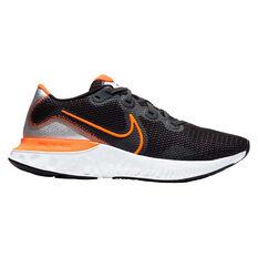 Nike Renew Run Mens Running Shoes Black / Orange US 7, Black / Orange, rebel_hi-res