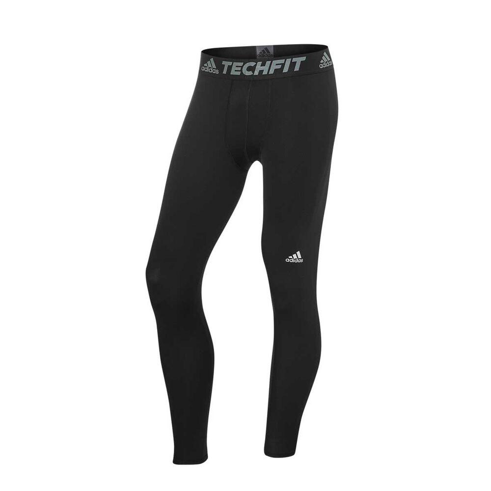 36c118fc07 adidas Mens TechFit Base Tights Black XXL, Black, rebel_hi-res
