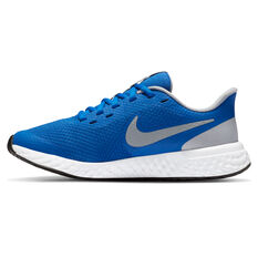 Nike Revolution 5 Kids Running Shoes Blue/Grey US 4, Blue/Grey, rebel_hi-res