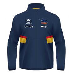 Adelaide Crows 2020 Mens Wet Weather Jacket Navy S, Navy, rebel_hi-res