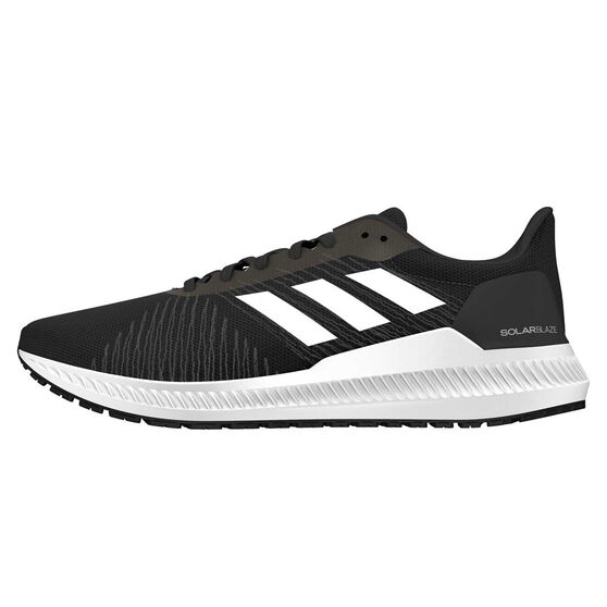adidas Solar Blaze Mens Running Shoes, Black / Grey, rebel_hi-res