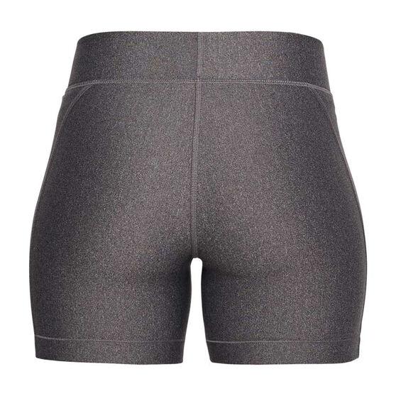 Under Armour Womens HeatGear Armour Middy Shorts, Grey, rebel_hi-res
