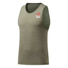 Reebok CrossFit Mens ACTIVCHILL + Cotton Games Tank Green S, Green, rebel_hi-res