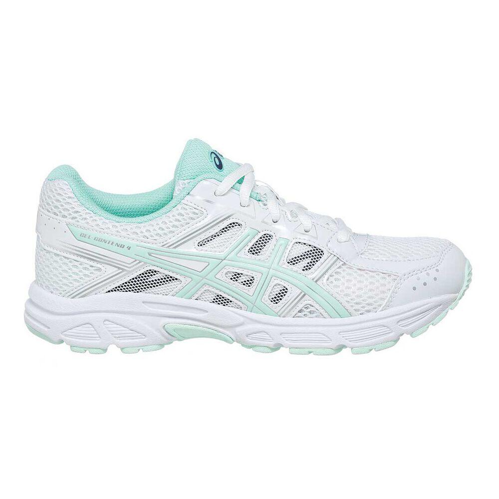 Asics Gel Contend 4 Girls Running Shoes White   Green US 2  4bf535d36