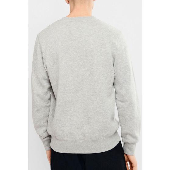 Champion Mens Script Crew Sweatshirt, Grey, rebel_hi-res