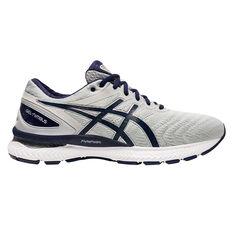 Asics GEL Nimbus 22 2E Mens Running Shoes Black/White US 7, Black/White, rebel_hi-res