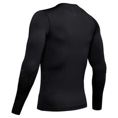 Under Armour Rush Mens Long sleeve Compression Tee Black S, Black, rebel_hi-res