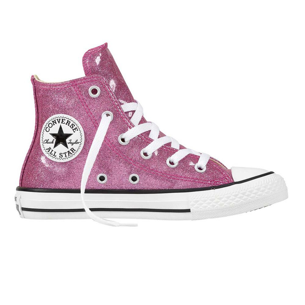 Converse Chuck Taylor All Star Glitter High Top Junior Casual Shoes Violet  US 4 682cefb95