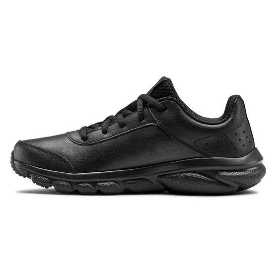 Under Armour Assert 8 Uniform Kids Running Shoes, Black, rebel_hi-res