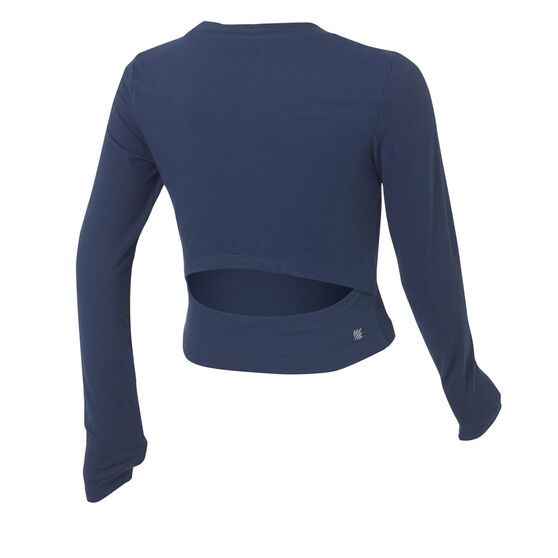 Ell and Voo Juliette Dance Cropped Pullover, Navy, rebel_hi-res