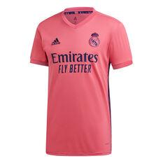 Real Madrid CF 2020/21 Mens Away Jersey Pink S, Pink, rebel_hi-res