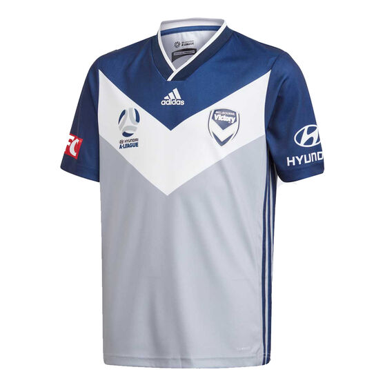 Melbourne Victory FC 2019/20 Kids Away Jersey Grey / Navy 16, , rebel_hi-res