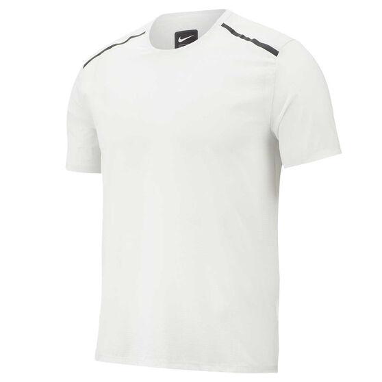 Nike Mens Running Tee White M, White, rebel_hi-res