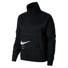 Nike Womens Swoosh Run Pullover Jacket Black XS, Black, rebel_hi-res