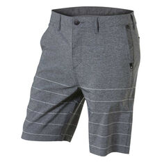 "Quiksilver Mens Union Plaid Amphibian 21"" Walk Shorts Grey 30, Grey, rebel_hi-res"