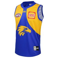 West Coast Eagles 2020 Kids Home Guernsey Blue / Yellow 6, Blue / Yellow, rebel_hi-res