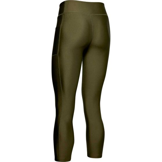 Under Armour Womens Project Rock HeatGear Armour Tights, Green, rebel_hi-res