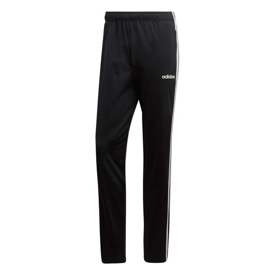 adidas Mens Essential 3 Stripes Pants, Black / White, rebel_hi-res
