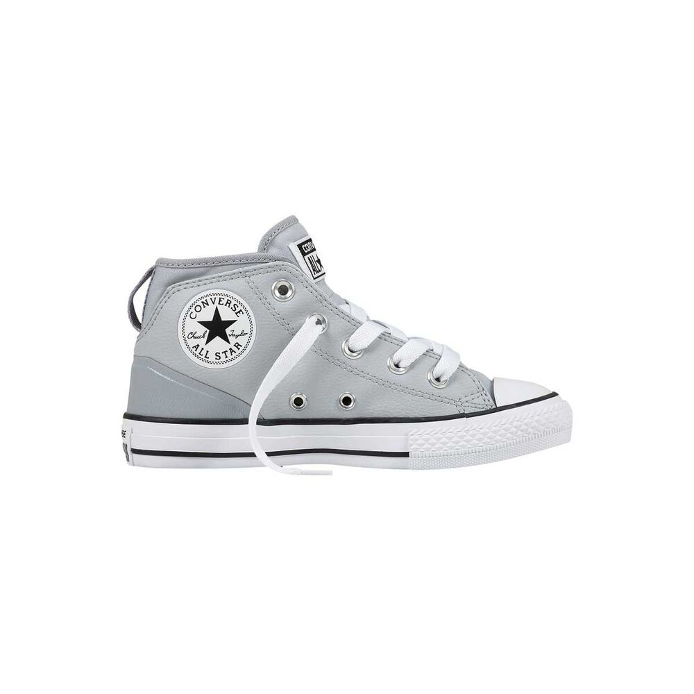 87c190713486 Converse Chuck Taylor All Star Syde Street Leather Kids Casual Shoes Grey  US 6