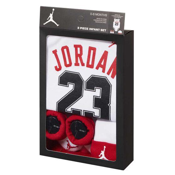 Nike Air Jordan 3 Piece Infant Set White / Black 0 - 6, White / Black, rebel_hi-res