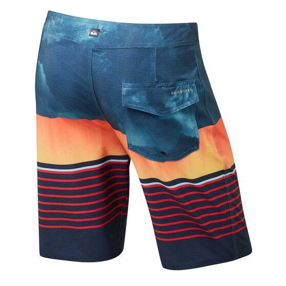 Quiksilver Mens Highline Swell Vision 2 Boardshorts, Blue / Orange, rebel_hi-res