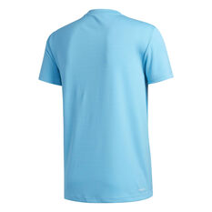 adidas Mens AEROREADY 3-Stripes Tee Blue S, Blue, rebel_hi-res
