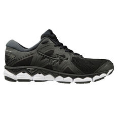 Mizuno Wave Sky 2 Mens Running Shoes Black US 8, Black, rebel_hi-res