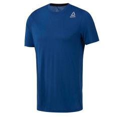 Reebok Mens Workout Ready Supremium 2.0 Tee Blue S, Blue, rebel_hi-res