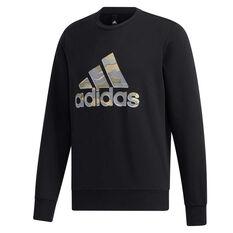 adidas Mens Must Haves Badge of Sport Sweatshirt Black M, Black, rebel_hi-res