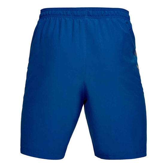 Under Armour Mens Woven Graphic Shorts, Blue, rebel_hi-res
