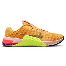 Nike Metcon 7 X Mens Training Shoes Yellow/Black US 7, Yellow/Black, rebel_hi-res