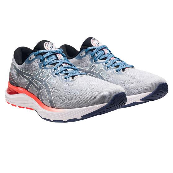 Asics GEL Cumulus 23 Celebration of Sport Mens Running Shoes, Grey/Blue, rebel_hi-res