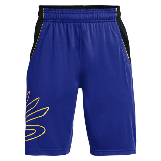 Under Armour Boys Steph Curry Hoops Shorts, Blue/Black, rebel_hi-res
