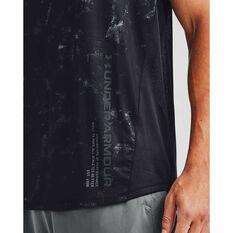 Under Armour Mens MK-1 Printed Tee, Black, rebel_hi-res