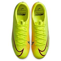 Nike Mercurial Vapor VII Academy MDS Football Boots, Yellow/Black, rebel_hi-res