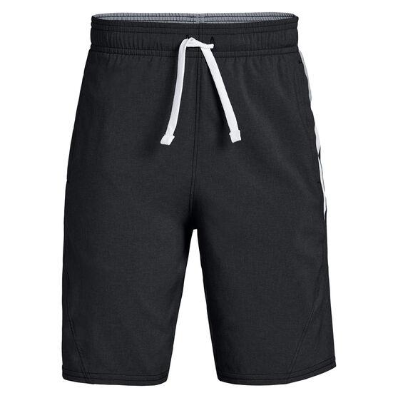 Under Armour Boys Evolve Woven Shorts, Black / Grey, rebel_hi-res