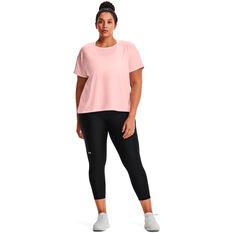 Under Armour Womens HeatGear No-Slip Ankle Tights Plus Black 1X, Black, rebel_hi-res
