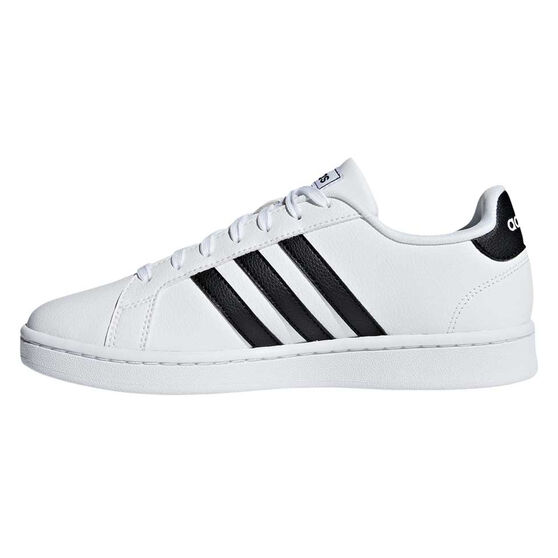 adidas Grand Court Womens Casual Shoes, White / Black, rebel_hi-res