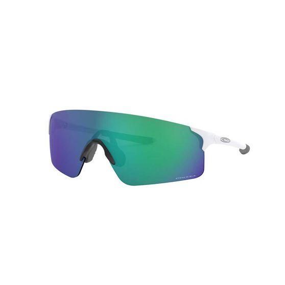 Oakley EVZero Blades Sunglasses Matte White / Prizm Jade, Matte White / Prizm Jade, rebel_hi-res