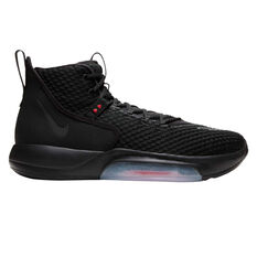 Nike Zoom Rize Mens Basketball Shoes Black US 7, Black, rebel_hi-res